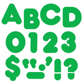 """Green 2"""" Casual Uppercase Ready Letters"""