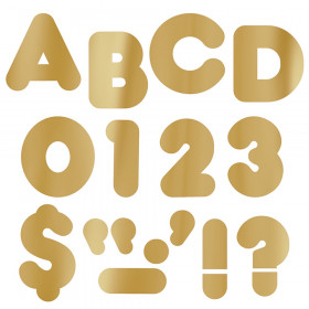 """Gold Metallic 2"""" Casual UC Ready Letters"""