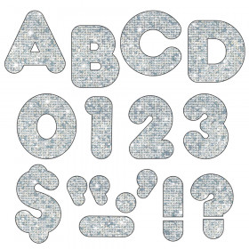 """Silver Sparkle 2"""" Casual UC Ready Letters"""