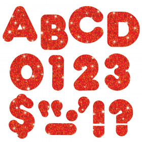 """Red Sparkle 2"""" Casual UC Ready Letters"""
