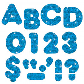 """Blue Sparkle 2"""" Casual UC Ready Letters"""