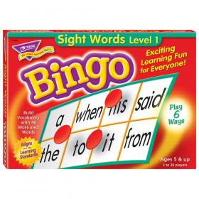 Sight Words Level 1 Bingo Game