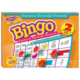 Fractions, Decimals, & Percents (2-sided) Bingo Game