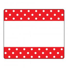 Polka Dots Red Terrific Labels™
