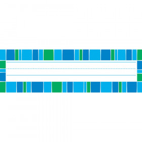 Stripe-tacular Cool Blue Desk Toppers® Name Plates