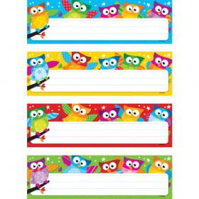 Owl-Stars! Desk Toppers Name Plates Var. Pk., 32 ct