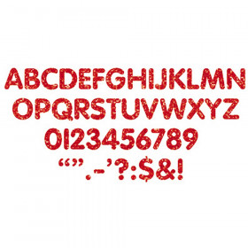 Stick-Eze 1 Letters Numbers Red Sprkl 184 Upprcs 50 Numrls 90 Mrks