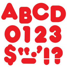 """Red 3"""" Casual Uppercase Ready Letters"""