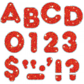 Red Sparkle Plus 4-Inch Casual Uppercase Ready Letters®