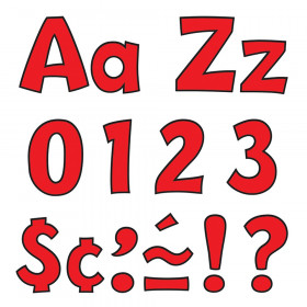 Red 4-Inch Playful Uppercase/Lowercase Combo Pack (EN/SP) Ready Letters