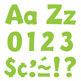 Lime 4-Inch Playful Uppercase/Lowercase Combo Pack (EN/SP) Ready Letters