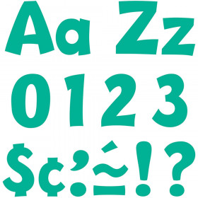 Teal 4-Inch Playful Uppercase/Lowercase Combo Pack Ready Letters®