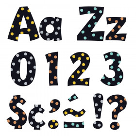 """Metal Dots 4"""" Playful Combo Ready Letters"""