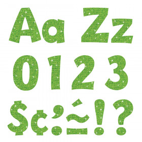"""Lime Sparkle 4"""" Playful Combo Ready Letters"""