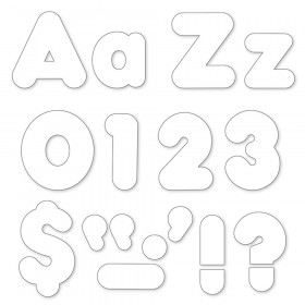 White 4-Inch Casual Uppercase/Lowercase Combo Pack Ready Letters