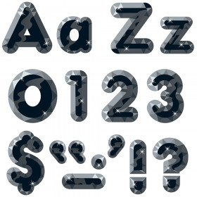 Black Gems 4-Inch Casual Uppercase/Lowercase Combo Pack Ready Letters®