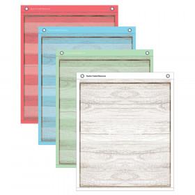 "Painted Wood Magnetic Mini Pocket Charts, 14"" x 17"""