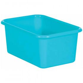 Teal Small Plastic Storage Bin
