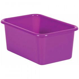 Purple Small Plastic Storage Bin