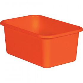 Orange Small Plastic Storage Bin