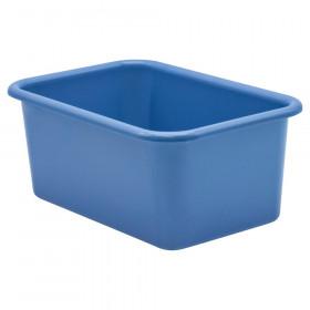 Slate Blue Small Plastic Storage Bin