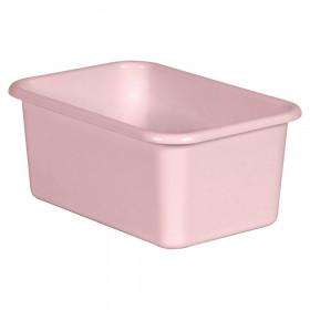 Blush Small Plastic Storage Bin