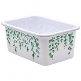 Eucalyptus Small Plastic Storage Bin