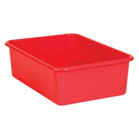 Red Large Plastic Storage Bin