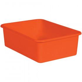 Orange Large Plastic Storage Bin