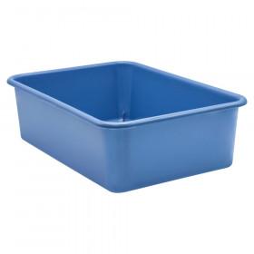 Slate Blue Large Plastic Storage Bin