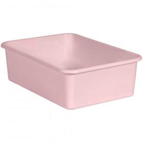 Blush Large Plastic Storage Bin