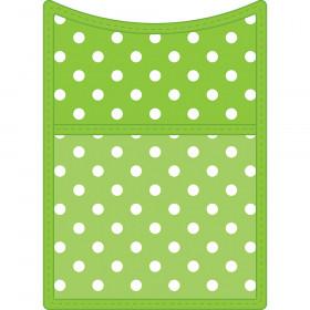 Lime Polka Dots Magnetic Storage Pocket
