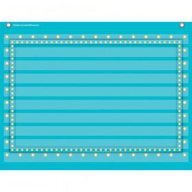 """Light Blue Marquee Mini Pocket Chart (17"""" x 22"""")"""