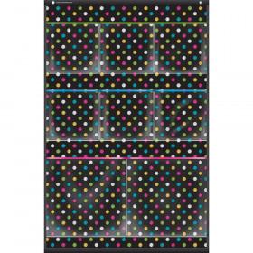 """Chalkboard Brights 8 Pocket Small Storage Pocket Chart (15"""" x 23"""")"""