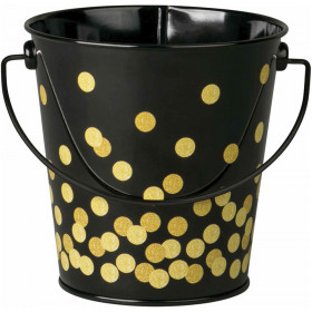 Black Confetti Bucket