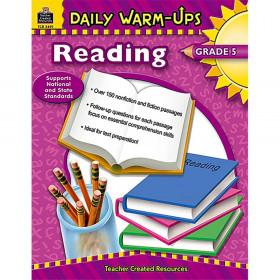Daily Warm-Ups: Reading Book, Grade 5