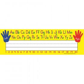 Left/Right Alphabet Name Plates