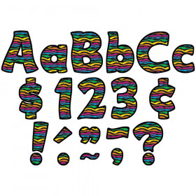 """Wild Stripes Funtastic 4"""" Letters Combo Pack"""