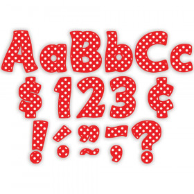 "Red Polka Dots Funtastic Font 4"" Letters Combo Pack, 208 pieces."