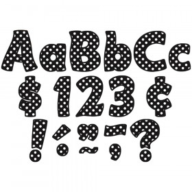 "Black Polka Dots Funtastic Font 4"" Letters Combo Pack, 208 pieces."