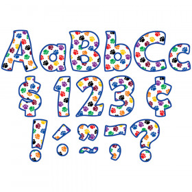 """Colorful Paw Prints Funtastic 4"""" Letters Combo Pack"""