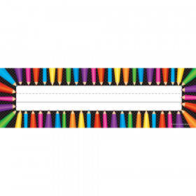Colored Pencils Flat Name Plates