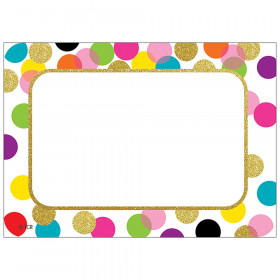 Confetti Name Tags Labels