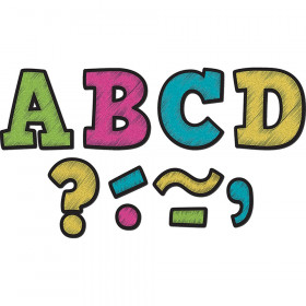 """Chalkboard Brights Bold Block 3"""" Magnetic Letters, 55 Pieces"""