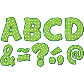 "Lime Polka Dots Funtastic Font 3"" Magnetic Letters"
