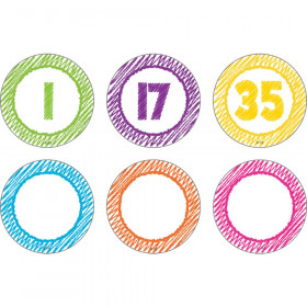 Scribble Numbers Magnetic Accents