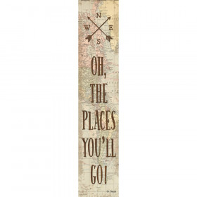 """Travel The Map Oh, the Places You'll Go! Banner, 8"""" x 39"""""""