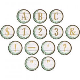 Eucalyptus Circle Letters, 216 Pieces