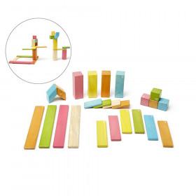 Magnetic Wooden Blocks, 24-Piece Set, Tints