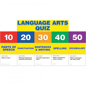 Language Arts Class Quiz Gr 2-4 Pocket Chart Add Ons